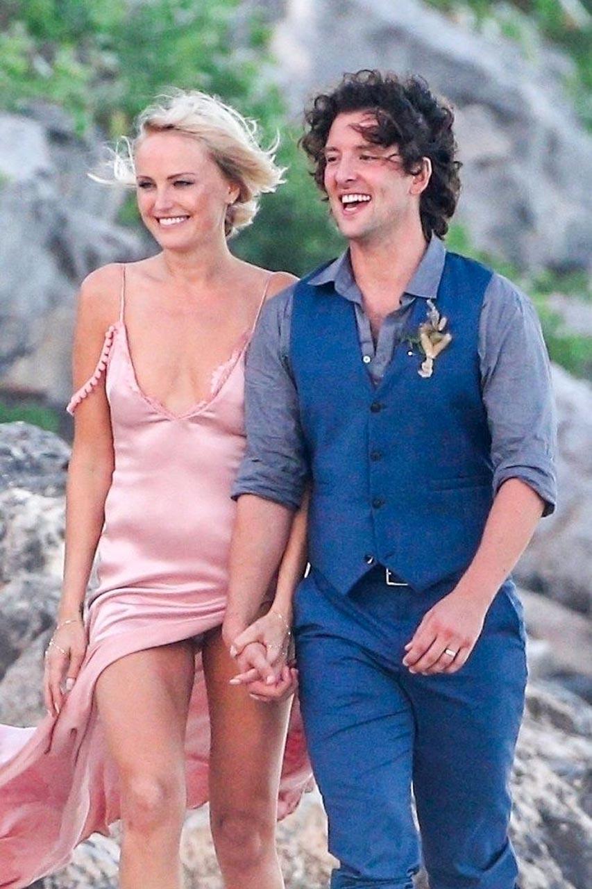 Malin Akerman Upskirt at Her Beach Wedding  Scandal Planet