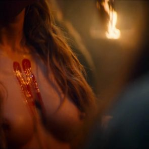 Jeanne Goursaud nude boobs from barbarians