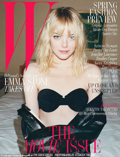 Emma Stone Strips Down for W