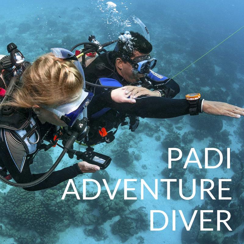 PADI adventure diver course puerto galera