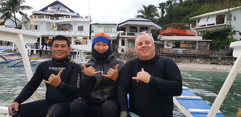 blackwater diving scandi divers resort philippines