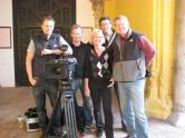 Crew in Spain: Jens, Johan, Marianne, local fixer Fernando Muñoz and Bo.
