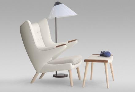 PP19  Teddy Bear Chair design Hans Wegner PP Mbler