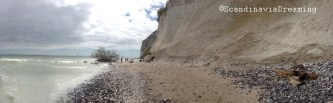 Mon Island chalk cliffs panoramic