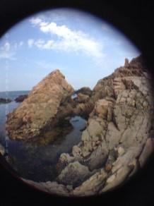 Côte de Scanie en fish eye