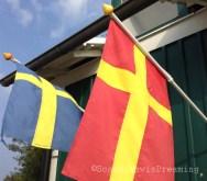 Drapeau suédois et de Scanie