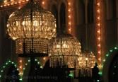 Lumières du parc de Tivoli durant Halloween