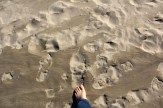 Marchant sur la dune mouvante