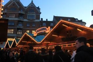 Cabane du marché de Noël