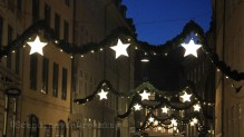 Rue décorée de Copenhague