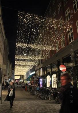 Rue de Copenhague décorée pour Noël