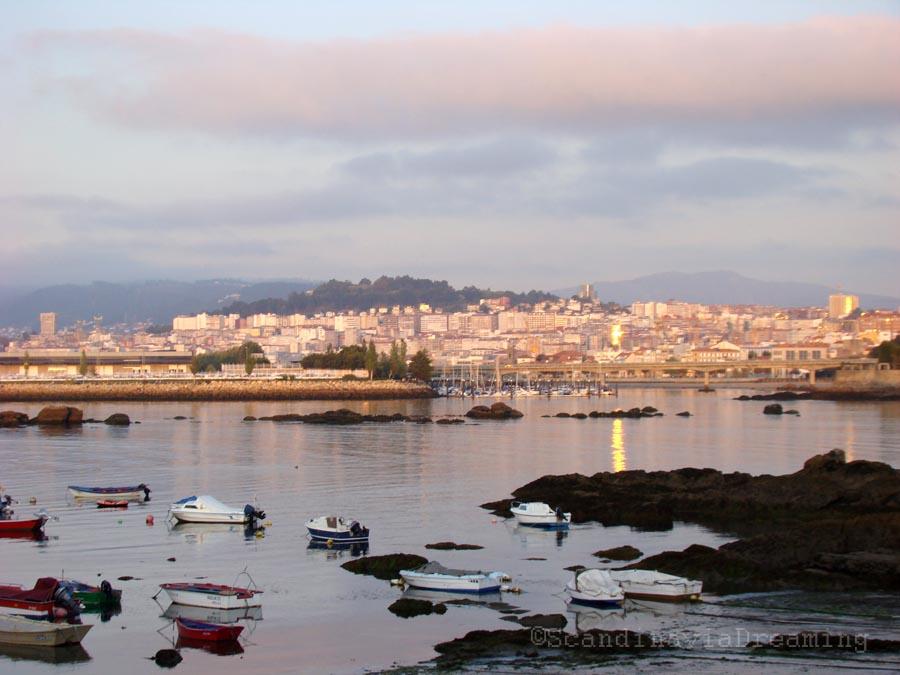 Coucher de soleil à Vigo