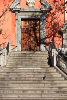 Escalier de l'église de Ljubljana