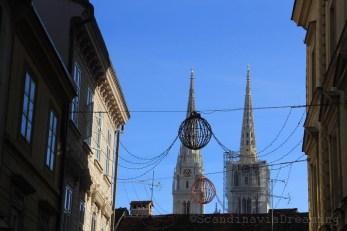 Flèche de la cathédrale de Zagreb