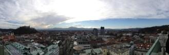 Panorama de la ville de Ljubljana