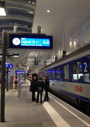 Sur le quai pour Zagreb