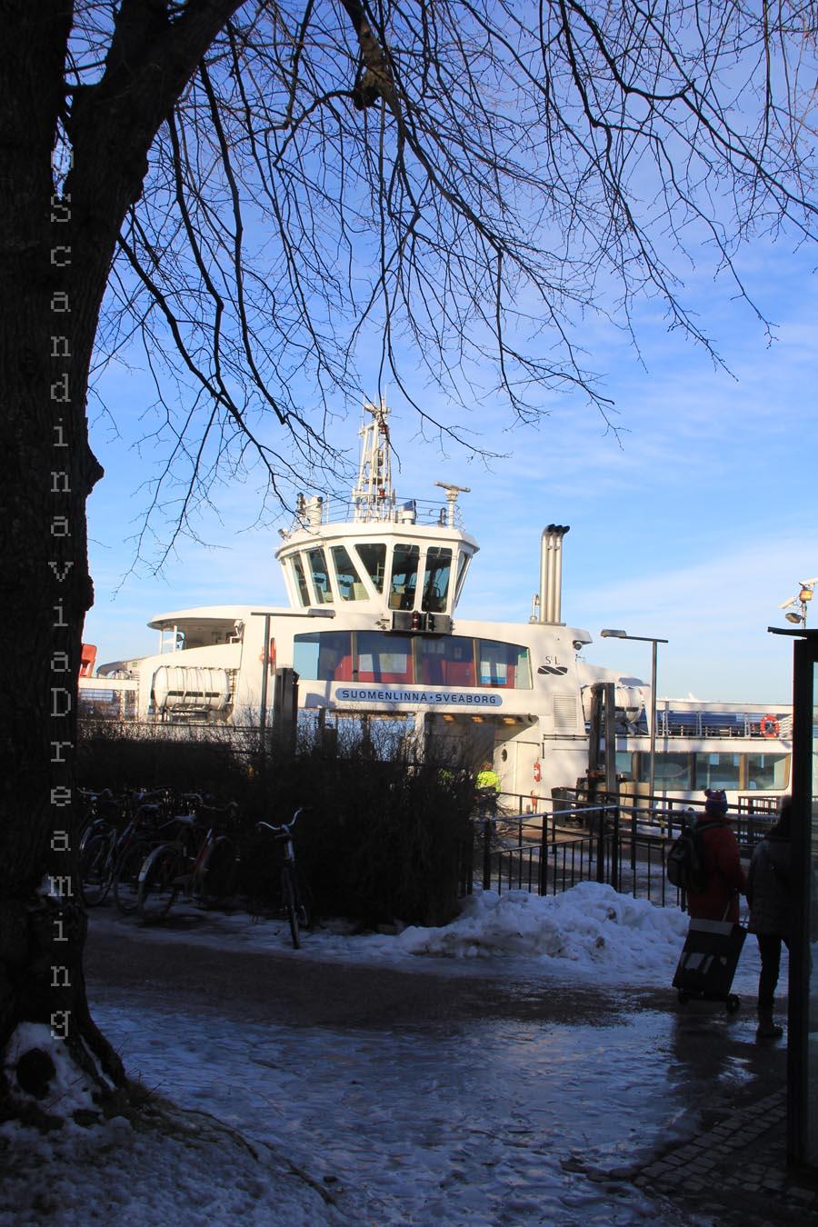 Bateau pour Suomenlinna