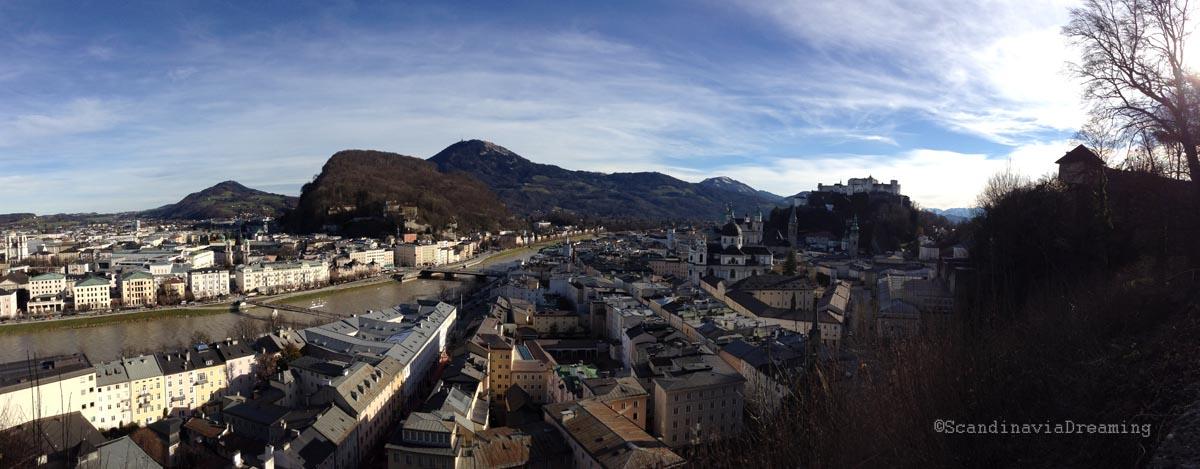 Panorama de la ville de Salzbourg en Autriche