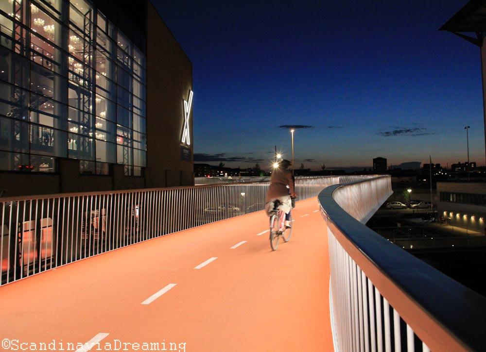 Vélo sur Cykelslangen Copenhague