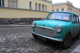 Vintage Austin mini à Helsinki