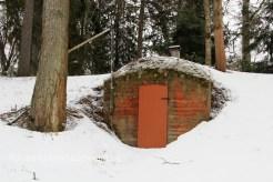 Cave dans la neige