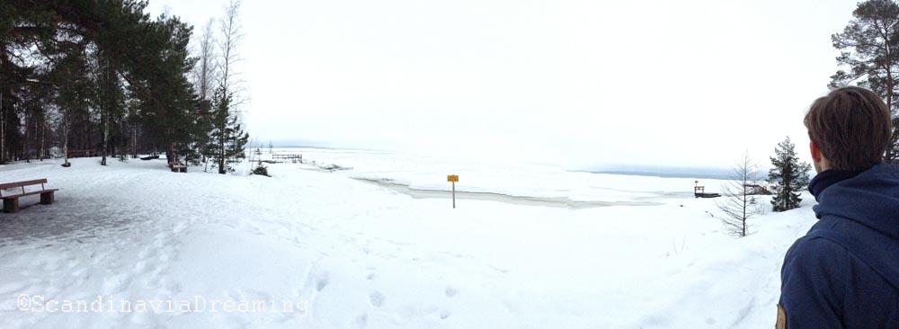 Lac près du sauna de Tampere