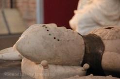 Gisant de chevalier dans le choeur de la cathédrale de Roskilde