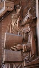 Moïse sculpté dans les stalles de la cathédrale de Roskilde