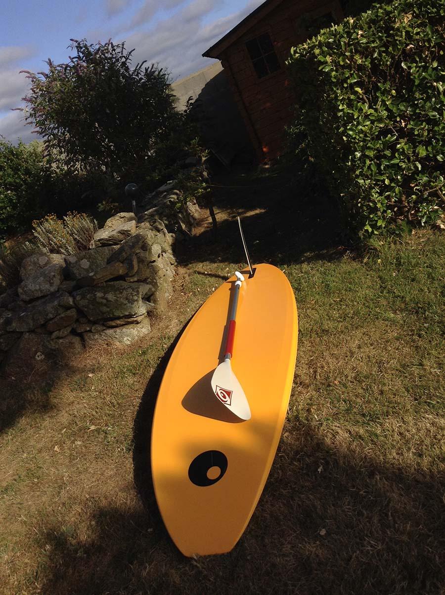 Planche de fun reconvertie en standup paddle