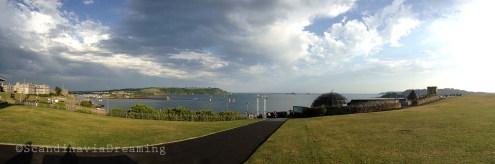 Plymouth esplanade après l'orage