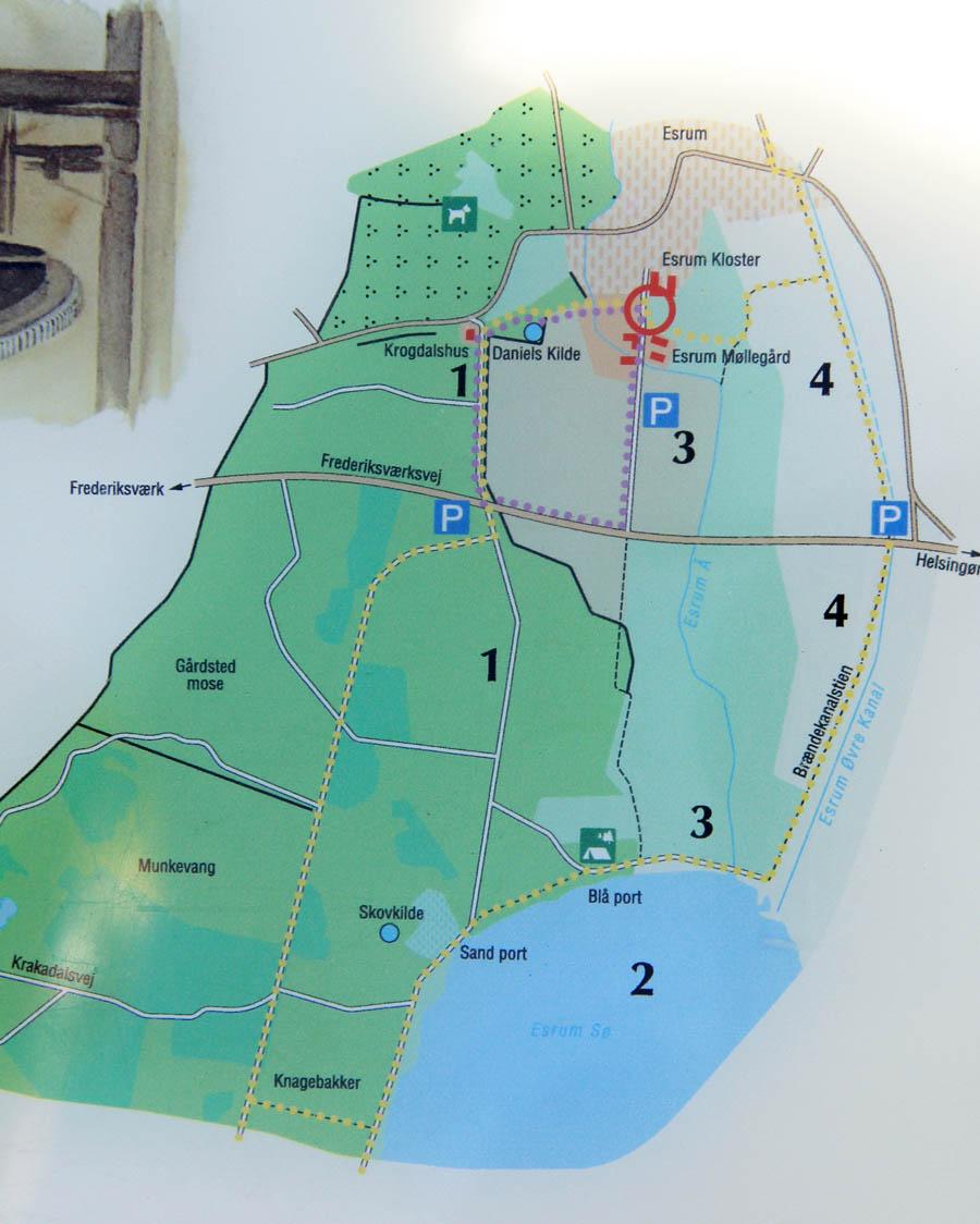Carte de l'abbaye d'Esrum