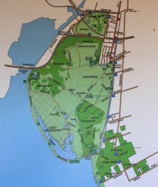 Carte de la réserve d'Amager