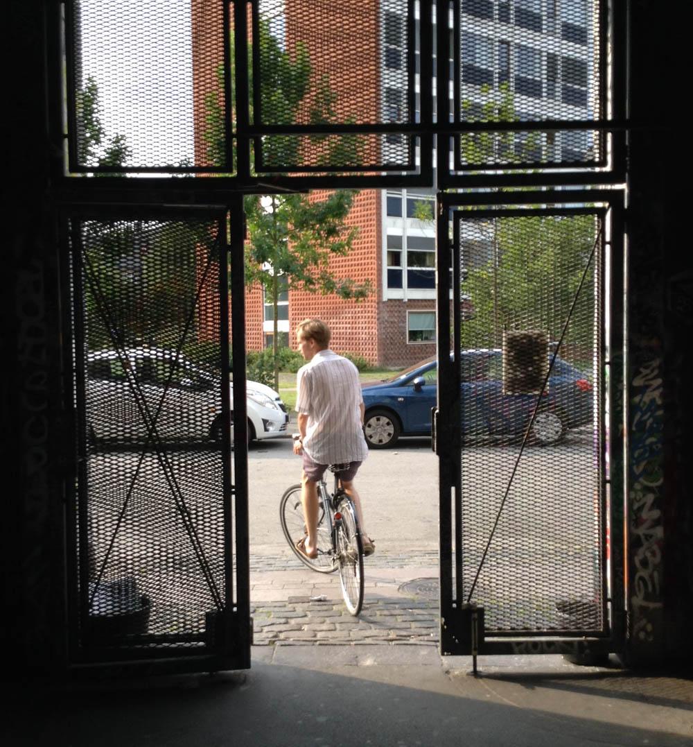 Esben à vélo