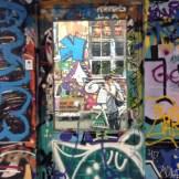 Selfie en graffitti