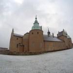 Château de Kalmar sous la neige