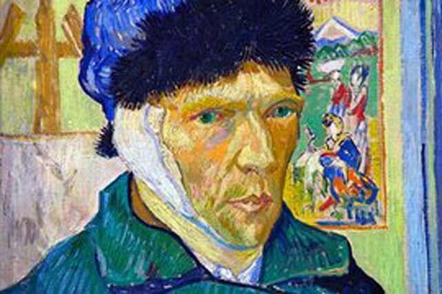 Van Gogh autoportrait-oreille-bandee