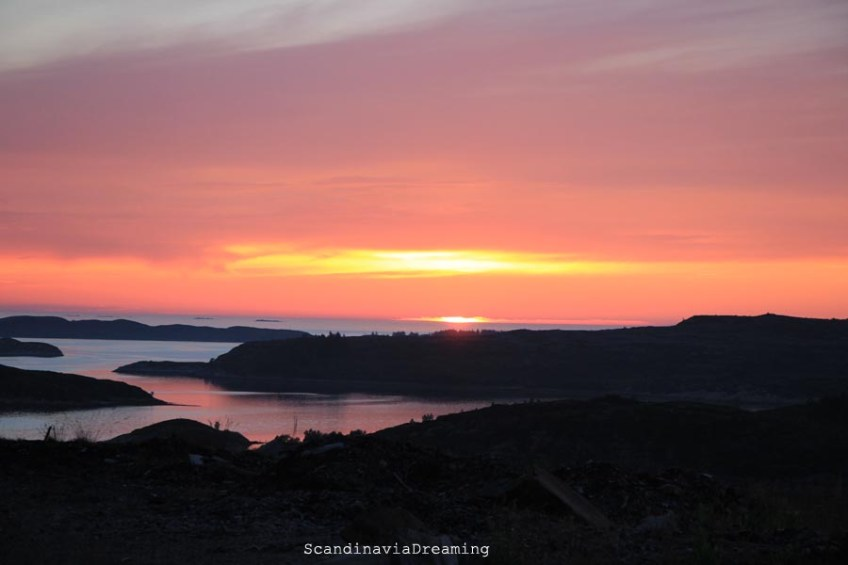 Coucher de soleil Norvège