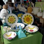 Craft vendor display at Midsummer Festival