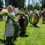Photo of Eva Andersson and Midsummer wreaths
