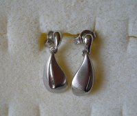 Danish GW small drop earrings for pierced ears ...