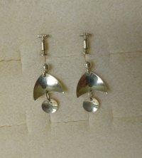 Norwegian Unihjem silver drop earrings - screws ...