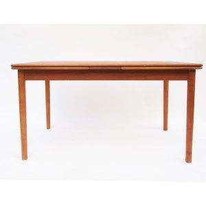 Table de salle à manger danoise, une extension de chaque côté