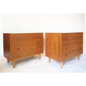 2 commodes scandinave vintage 50 60