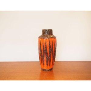 Vase vintage orange, marron, vintage 70