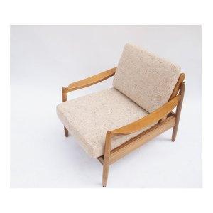 2 fauteuils scandinave vintage beige crème