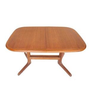 Table de salle à manger, pied central, danois années 60