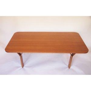 Grande table basse scandinave vintage, piétement «Y», années 50 60