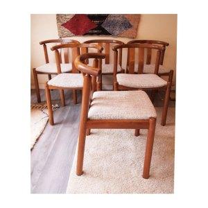 4 chaises scandinaves danoises, Uldum vintage 50 60