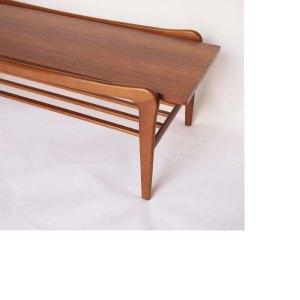 Table basse scandinave vintage, piétement évasé #14