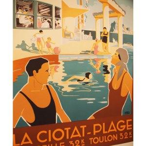 Affiche Lithographie vintage, La Ciotat